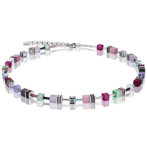 Coeur De Lion GeoCube Stainless-Steel Multicolour Romance Necklace 2838-10-1566