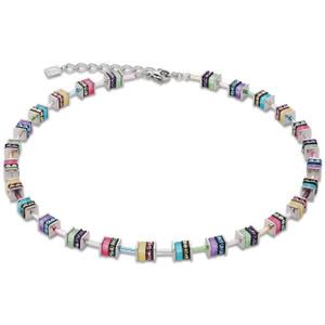 Coeur De Lion GeoCube Stainless-Steel Pastel Multi Coloured Necklace 4409-10-1522