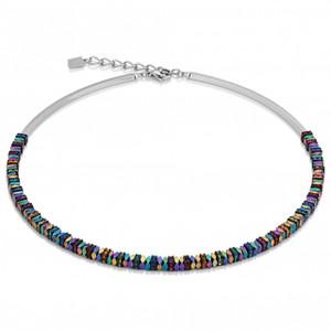 Coeur De Lion GeoCube Stainless-Steel Multi Coloured Necklace 4777-10-1500