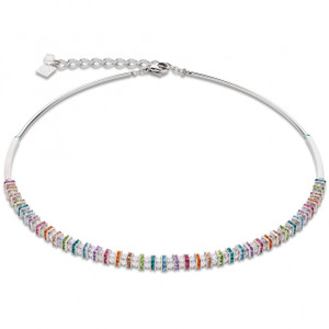 Coeur De Lion GeoCube Swarovski Crystals & Cut Glass Multi Coloured Necklace 4858-10-1518