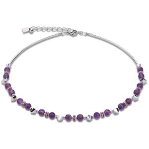 Coeur De Lion Swarovski Crystals & Amethyst Purple Necklace 4894-10-0800