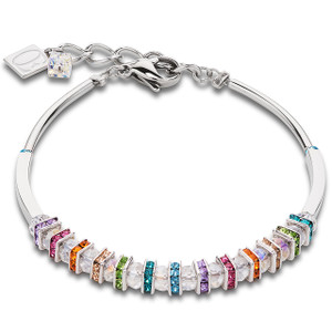 Coeur De Lion Swarovski Crystals & Cut Glass Multi Coloured Bracelet 4858-30-1518