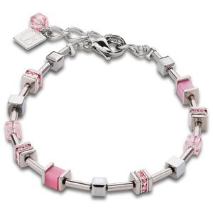 Coeur De Lion Stainless-Steel Swarovski Crystals Pave Rose Bracelet 4893-30-1900