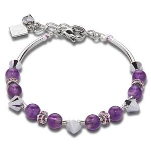 Coeur De Lion Swarovski Crystals & Amethyst Purple Bracelet 4894-30-0800