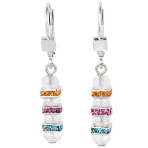 Coeur De Lion Swarovski Crystals & Cut Glass Multi Coloured Drop Earrings 4858-20-1518