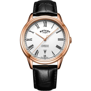 Rotary Men's Cambridge Automatic Rose Gold Date Watch GS05252/01