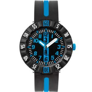 Flik Flak Blue Ahead Children's Quartz Black Dial Watch FCSP031
