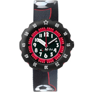 Flik Flak Soccer Star Children's Quartz Black Dial Watch FPSP010