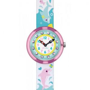 Flik Flak Splashy Dolphins Children's Quartz Blue Dial Watch FBNP035