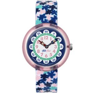 Flik Flak London Flower Children's Quartz White Dial Watch FBNP080