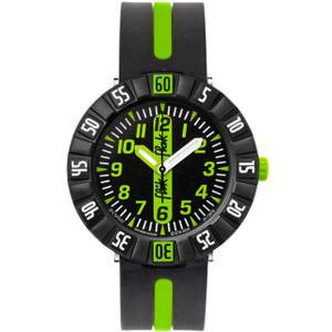 Flik Flak Green Ahead Children's Quartz Black Dial Watch FCSP032