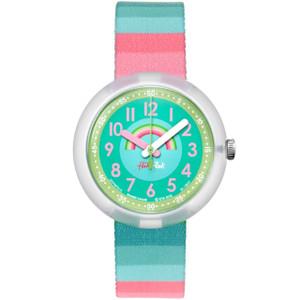 Flik Flak Stripy Dreams Children's Quartz Green Dial Watch FPNP014