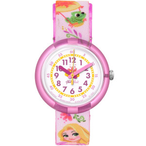 Flik Flak Disney Rapunzel Children's Quartz White Dial Watch FLNP028