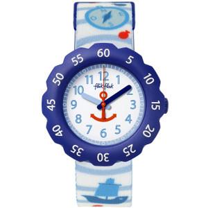 Flik Flak Anchor Up Children's Quartz White Dial Watch FPSP027