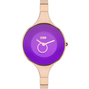 Storm Women's Ola Rg Purple Stainless-Steel Bracelet Watch