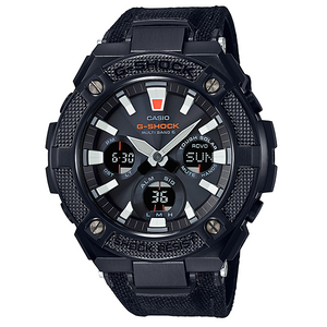 G-Shock G-Steel Solar Radio Controlled Black Military Strap Watch GST-W130BC-1AER