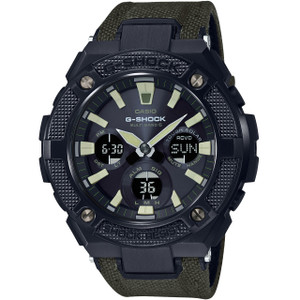 G-Shock G-Steel Solar Radio Controlled Khaki Military Strap Watch GST-W130BC-1A3ER