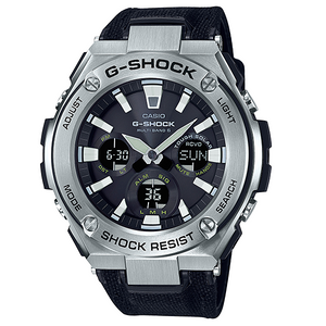 G-Shock G-Steel Solar Radio Controlled Black Military Strap Watch GST-W130C-1AER