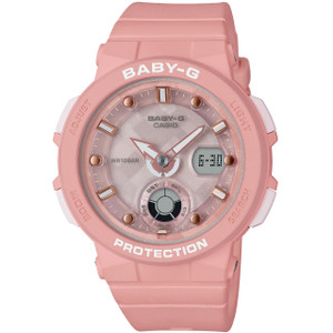 Baby-G Ladies Pink Analog-Digital LED Backlight Watch BGA-250-4AER