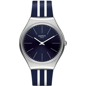 Swatch Skin Irony Skinblueiron Unisex Quartz Blue Dial Silicone Strap Watch SYXS106