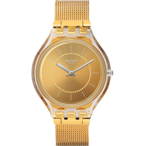 Swatch Skincarat Women's Quartz Stainless-Steel Milanese Mesh Bracelet Watch SVOK100M