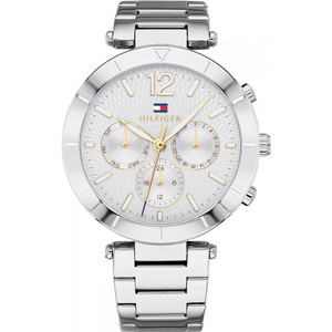 Tommy Hilfiger Women's Chloe Silver Dial Stainless-Steel Bracelet Watch 1781877