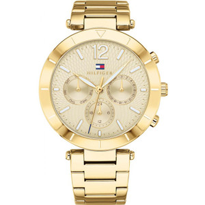 Tommy Hilfiger Women's Chloe Gold Dial Stainless-Steel Bracelet Watch 1781878