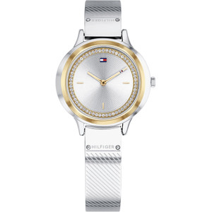 Tommy Hilfiger Women's Olivia Silver And White Dial Stainless-Steel Bracelet Watch 1781912