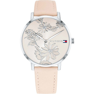 Tommy Hilfiger Women's Pippa Rose Gold Dial Leather Strap Watch 1781919