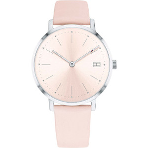 Tommy Hilfiger Women's Pippa Pink Dial Leather Strap Watch 1781925