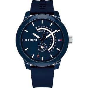 Tommy Hilfiger Men's Denim Navy Dial Silicone Strap Watch 1791482