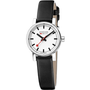Mondaine Evo2 Petite Ladies Sapphire Small Size Black Strap Watch MSE.26110.LB