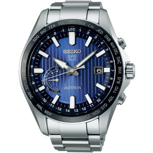 Seiko Astron GPS Solar Sapphire Crystal Blue Dial Date Watch SSE159J1