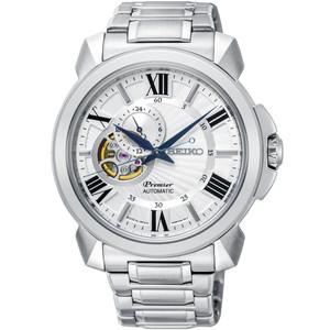 Seiko Premier Automatic Skeleton Dial Sapphire Crystal Bracelet Watch SSA369J1