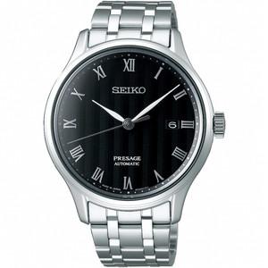Seiko Presage Zen Garden Automatic Bracelet Black Dial Date Watch SRPC81J1