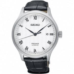 Seiko Presage Zen Garden Automatic Black Strap Date Watch SRPC83J1