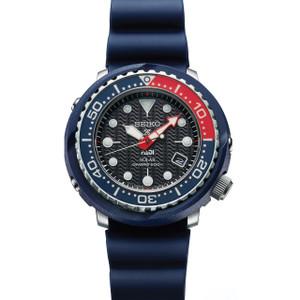 Seiko Prospex PADI Tuna Solar Diver's Blue Strap Date Watch SNE499P1