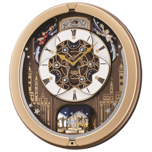 Seiko Gold Plastic Case Melodies In Motion Clock QXM350G