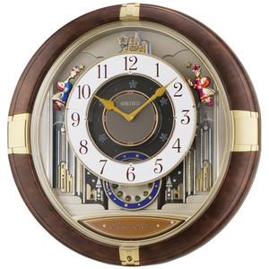 Seiko Brown Marble Plastic Case Melodies In Motion Clock QXM333B