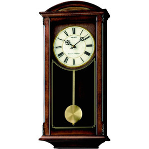 Seiko Westminster/Whittington Dual Chime Wooden Wall Clock QXH030B