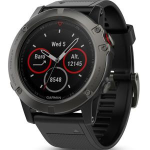 Garmin Fenix 5X Sapphire GPS Multi-Sport Multi-Sensor HR Slate Black Strap Watch 010-01733-01