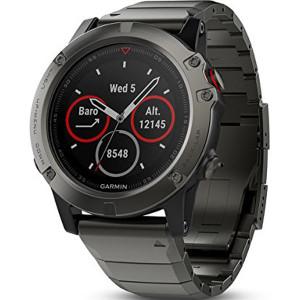 Garmin Fenix 5X Sapphire GPS Multi-Sport Multi-Sensor HR Slate Bracelet Watch 010-01733-03