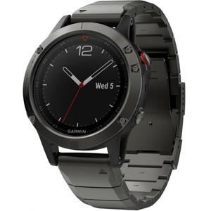 Garmin Fenix 5 Sapphire GPS Multi-Sport Multi-Sensor HR Slate Gray Metal Bracelet Watch 010-01688-21