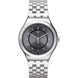 Swatch Irony Big Classic Stand Alone Grey Dial Stainless-Steel Bracelet Watch YWS432G
