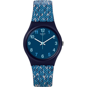 Swatch Original Gent Trico'blue Silicone Strap Watch GN259