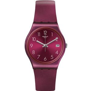 Swatch Original Gent Redbaya Burgundy Dial Silicone Strap Watch GR405