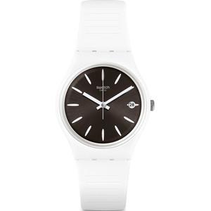 Swatch Original Gent Anti Slip Black Dial Silicone Strap Watch GW410
