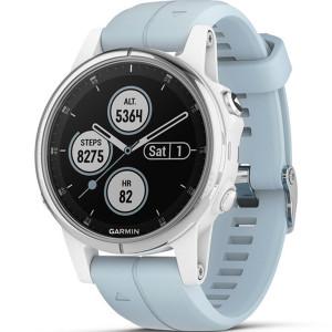 Garmin Fenix 5 Plus GPS Multi-Sport Multi-Sensor HR Music Light Blue 42MM Smartwatch 010-01987-23