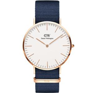 Daniel Wellington Unisex Classic Bayswater Eggshell White Dial Watch DW00100275