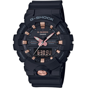 G-shock Black And Rose Gold Analogue Digital Resin Strap Watch GA-810B-1A4ER